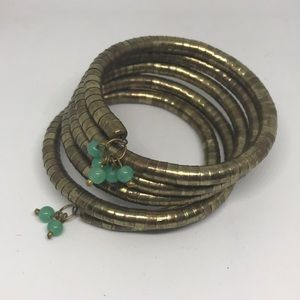 Jewelry - Gold brass coil bracelet